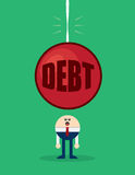 Character Debt Looming Stock Photography