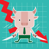 Character design and business concept. Illustration of bull cut Stock Photography