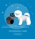 Character design cat and dog Stock Photos