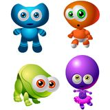 Character Design Collection 014: Baby Aliens Royalty Free Stock Photos