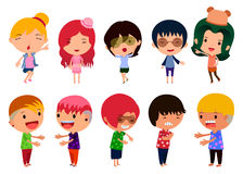 Character Design Set Royalty Free Stock Photography