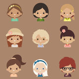 Character design vector set Royalty Free Stock Images