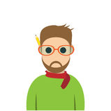 Character of designer , style cartoon , Royalty Free Stock Photography