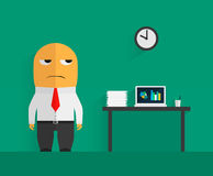 Character of discontent office clerk Stock Photography