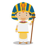 Character from  Egypt dressed in the traditional way as a pharaoh of the Ancient Egypt. Vector Illustration. Kids of the World Collection Stock Image