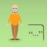 Character of elderly professor Stock Images