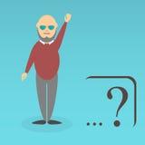 Character of elderly professor Stock Image