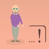 Character of elderly professor Stock Photography
