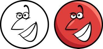 Character face cartoon illustration Royalty Free Stock Photos