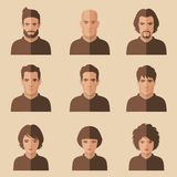 Character face vector Stock Image