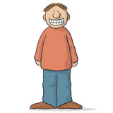 A character with a fake smile Royalty Free Stock Photos