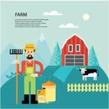 Character farmer. Royalty Free Stock Image