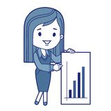 Character financier with graph Royalty Free Stock Image