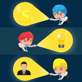 Character Flashlight Search Business Icon Vector. Character Flashlight Search Business Icon Royalty Free Stock Image
