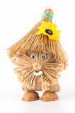 Straw toy. Character of folklore brownie straw royalty free stock image