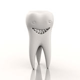 Character in the form of a smiling tooth Stock Photo