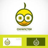 Character funny logo Royalty Free Stock Photo