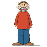 A character with funny smile Stock Photo