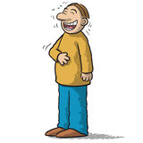 A character with funny smile Stock Photos