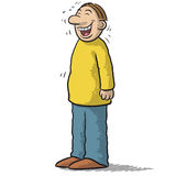 A character with funny smile Royalty Free Stock Photo