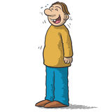 A character with funny smile Stock Images