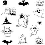Character ghost halloween in doodle Stock Image