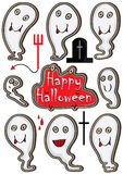 Character Ghost Set_eps. Illustration of character ghost set, isolated on white background. Happy Halloween! --- This .eps file info Version: Illustrator 8 EPS vector illustration