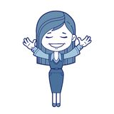Character girl smiling Royalty Free Stock Images