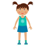 Character girl in sport skirt Royalty Free Stock Photos
