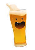 Character glass of delicious fresh cold beer Royalty Free Stock Photography