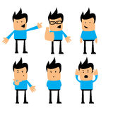 Character guy great for infographic and product showcase Stock Images
