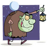 Character halloween igor with lantern Royalty Free Stock Photo