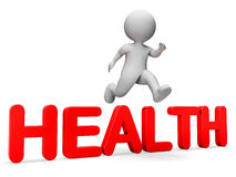 Character Health Indicates I Did It And Achieve 3d Rendering Royalty Free Stock Images