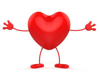 Character Healthcare Shows Valentine Day And Affection Royalty Free Stock Images