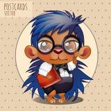 Character hedgehog nerd boy with book Stock Photo