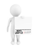 Character holding calendar May 2013 Stock Images