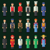 Character icon flat profession se Stock Photos