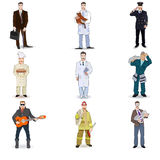 Character icon flat profession set  isolated Stock Photography