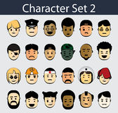 Character Icon Set 2 Stock Photo