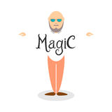 Character of illusionist Royalty Free Stock Photography