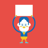 Character illustration design. Businessman board cartoon,eps Royalty Free Stock Images
