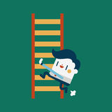 Character illustration design. Businessman concept work hard and Stock Photos