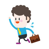 Character illustration design. Businessman going to work cartoon Royalty Free Stock Images