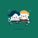 Character illustration design. Businessmen concept work together Stock Photo