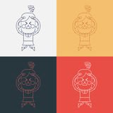 Character illustration design. Girl confused cartoon,eps Royalty Free Stock Images