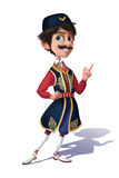 Character Illustration for Memory Card: Montenegrin Man in a National Costume. Royalty Free Stock Photos
