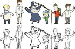 Character illustrations Stock Images