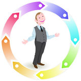 Character for infographics Stock Photography
