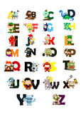 Character letter vector set royalty free illustration