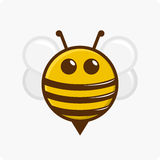 Character little bee. Vector illustration of a bee character on a white background royalty free illustration